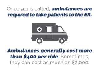 cost of ambulance ride to ER